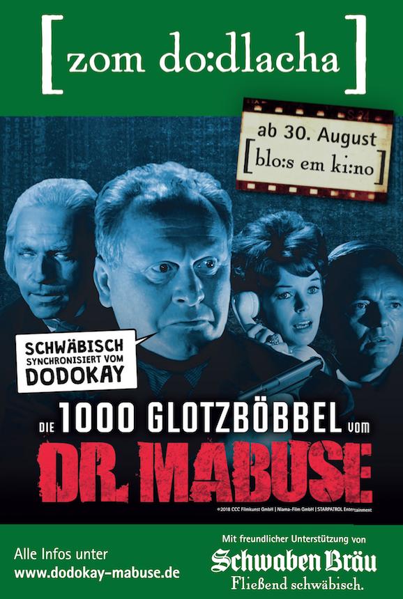 Kinofilm DIE 1000 GLOTZBÖBEL VOM DR. MABUSE